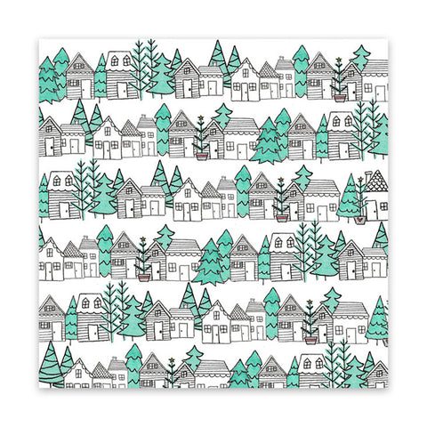 Christmas Town 8x8 Vellum Speciality Paper  - Pretty Little Studio - Home for Christmas