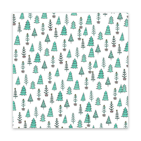 Fir Trees 8x8 Vellum Speciality Paper  - Pretty Little Studio - Home for Christmas