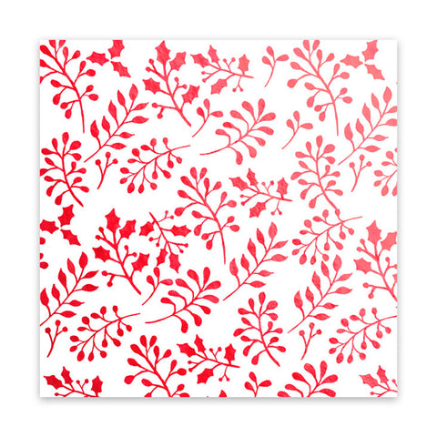 Holly Berries 8x8 Metallic Red Vellum  - Pretty Little Studio - Home for Christmas