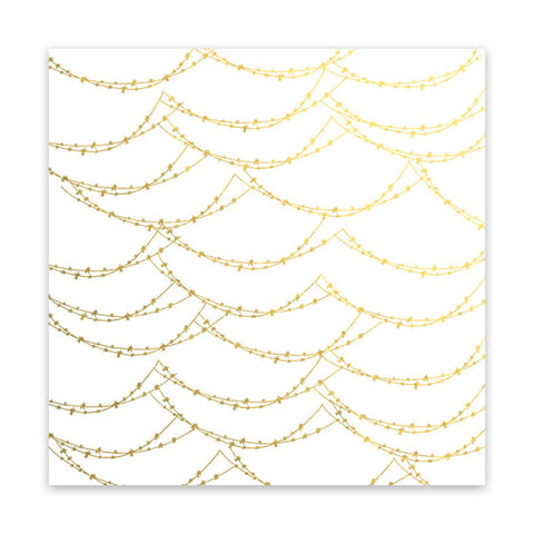 Magical Lights 8x8 Metallic Gold Vellum  - Pretty Little Studio - Home for Christmas