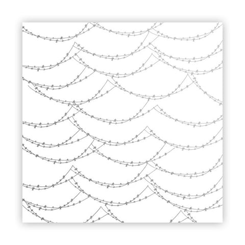 Magical Lights 8x8 Metallic Silver Vellum  - Pretty Little Studio - Home for Christmas