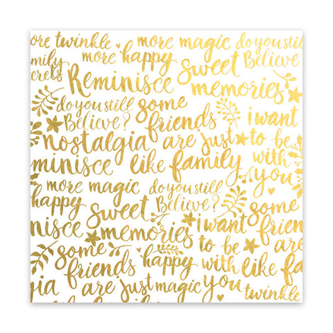 Twinkle 8x8 Metallic Gold Clear Acetate  - Pretty Little Studio - Home for Christmas