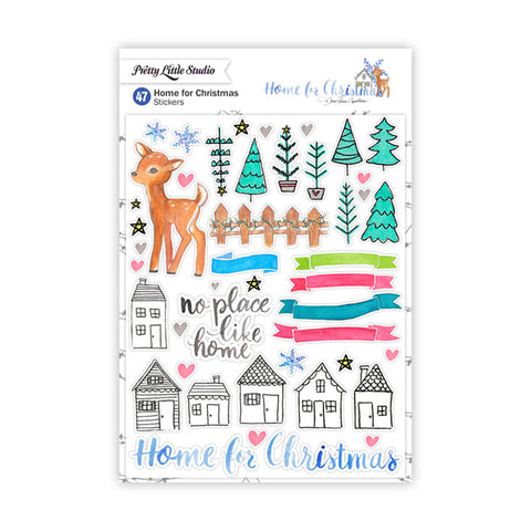 Happy Memories Stickers  - Pretty Little Studio - Home for Christmas