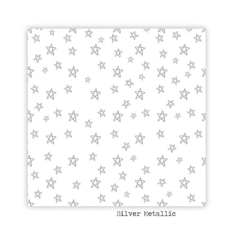 Midnight 8x8 Silver Metallic Clear Transparency - Pretty Little Studio - Winter Joy