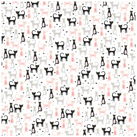 Kitty Party Pattern Paper - My Mind's Eye - Meow