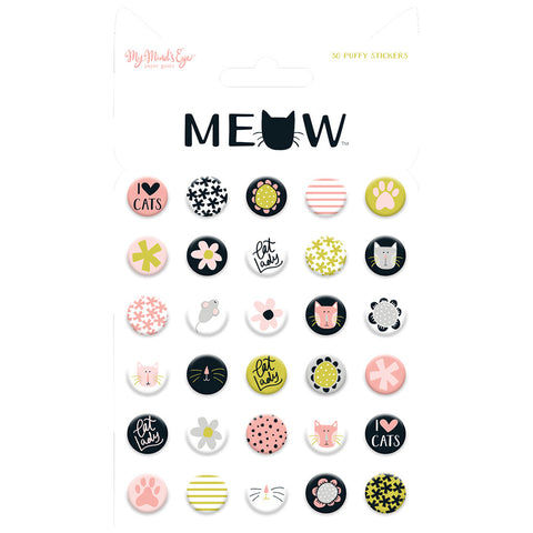 Puffy Stickers - My Mind's Eye - Meow