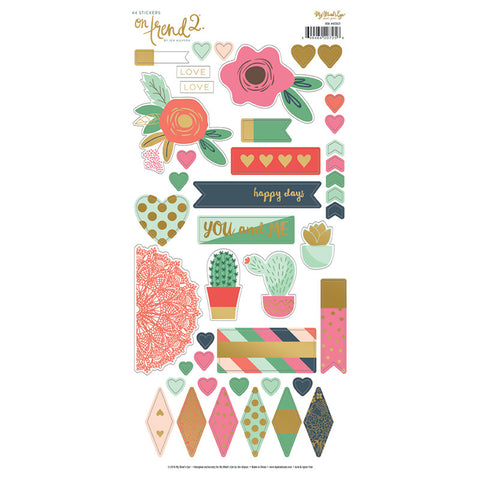 6X12 Gold Foil Sticker Sheet- My Mind's Eye On Trend 2