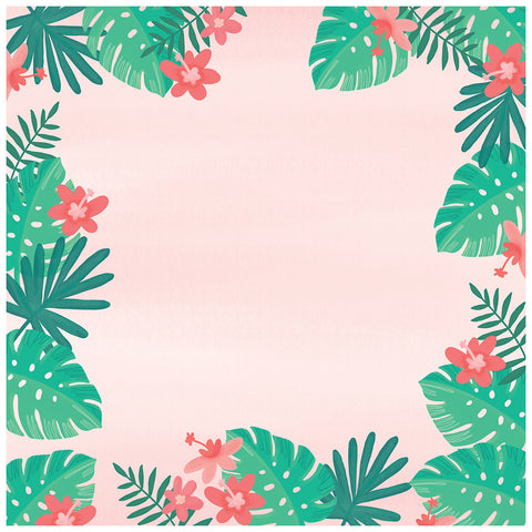 Leaves 12x12 Pattern Paper - My Mind's Eye - Palm Beach