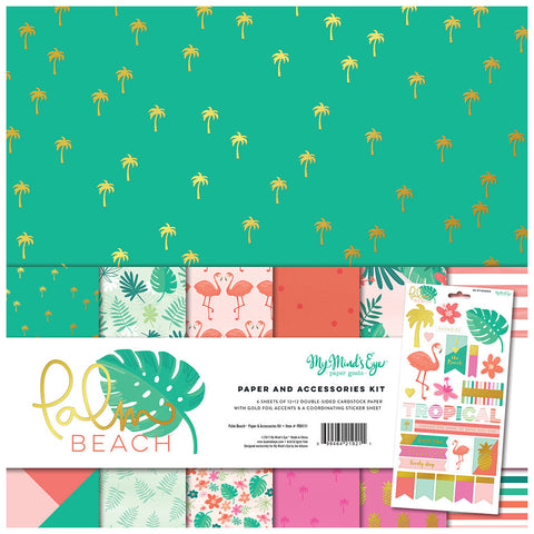Paper & Accessory Kit - My Mind's Eye - Palm Beach