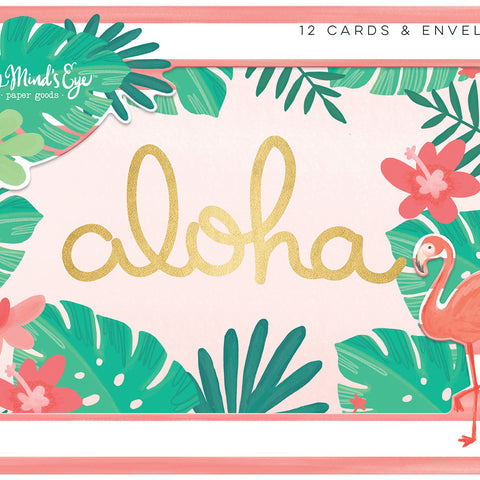 Card Set with Envelopes - My Mind's Eye - Palm Beach