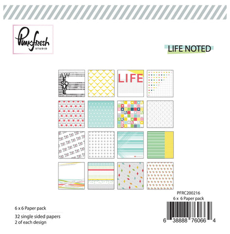 6x6 Paper Pack - Pinkfresh Studio Life Noted