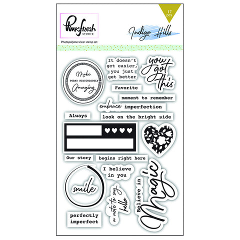 Clear Stamp Set- Pinkfresh Studio Indigo Hills
