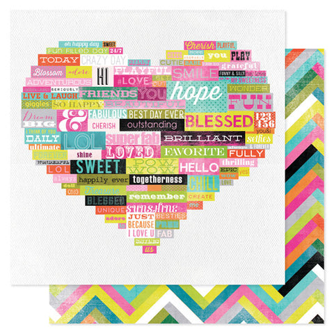 Heidi Swapp Favorite Things Paper Wordy