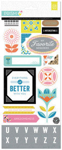 Printed Chipboard Shapes & Alphas - BasicGrey Prism