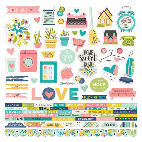 Combo Stickers - Simple Stories - Domestic Bliss