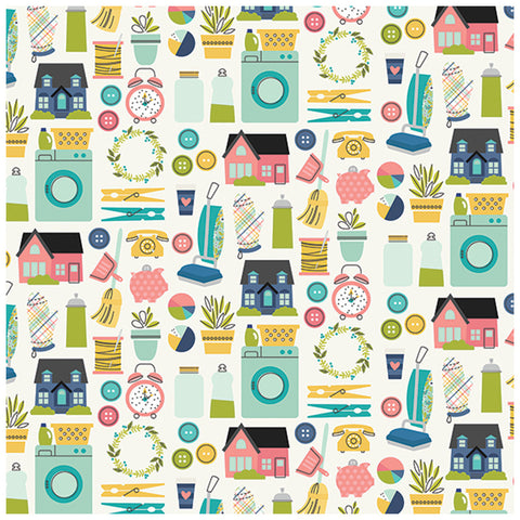 Loads of Fun 12x12 Patterned Paper - Simple Stories - Domestic Bliss