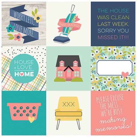 4x4 Elements 12x12 Patterned Paper - Simple Stories - Domestic Bliss