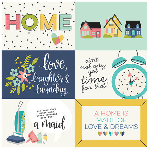 4x6 Horizontal Elements 12x12 Patterned Paper - Simple Stories - Domestic Bliss