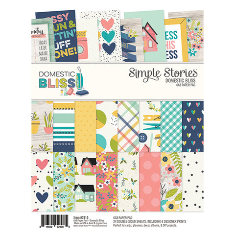 6x8 Paper Pad - Simple Stories - Domestic Bliss