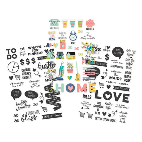 Clear Stickers - Simple Stories - Domestic Bliss
