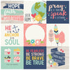 4x4 Journaling Card Elements 12x12 Patterned Paper - Simple Stories - Faith
