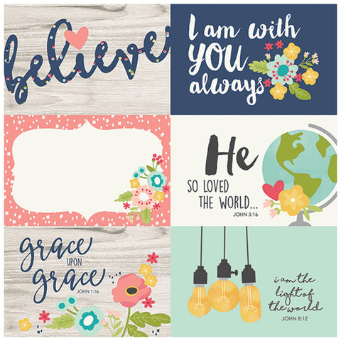 4x6 Horizontal Elements 12x12 Patterned Paper - Simple Stories - Faith