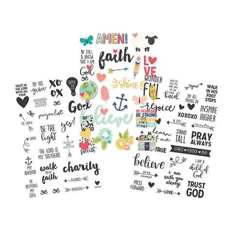Faith Clear Stickers - Simple Stories - Faith