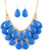 Blue Layered Teardrop Necklace Set
