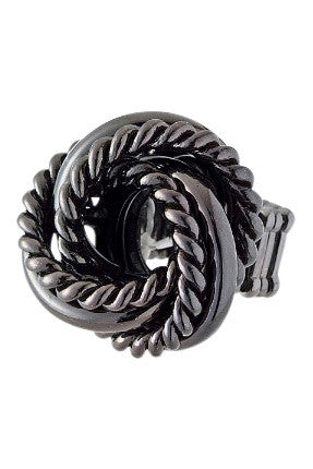 Charcoal Twisted Chain Ring