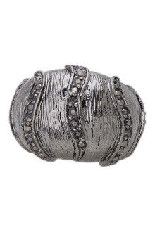 Charcoal Studded Stripe Ring