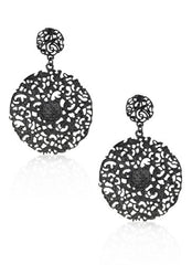 Charcoal Vintage Lace Earrings