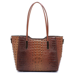 Coffee Crocodile Super Tote Bag