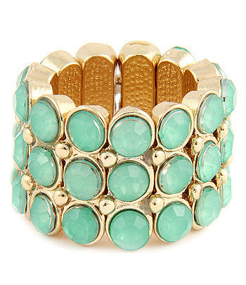 Mint Rounded Jewel Layer Ring