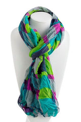 Multi Colored Square Pattern Scarf