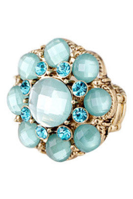 Turquoise Jewel Studded Ring