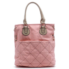 Pink Pocket Convertible Handbag