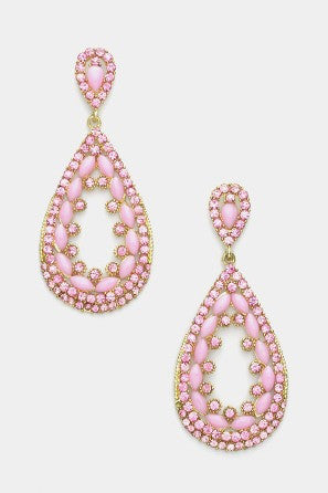 Pink Pastel Teardrop Earrings