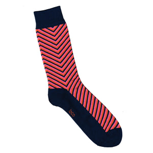 Arrow Print Socks | Red and Charcoal | Shop Online | LAFITTE Australia