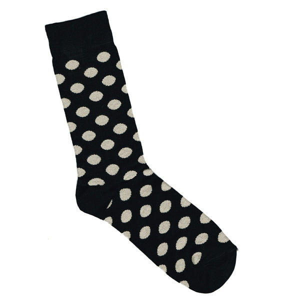Black and white spotted socks | Shop Online LAFITTE Australia