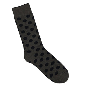 Charcoal Bamboo Socks with Black Spots | Shop Online LAFITTE Australia