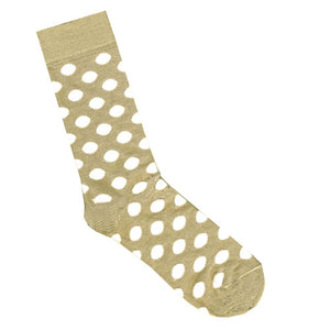 Cream and White Spot Bamboo Socks | Shop Online | LAFITTE Australia