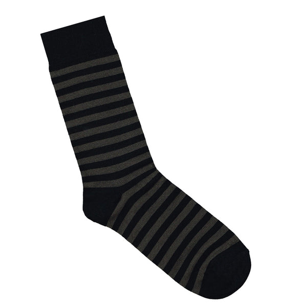 Black and charcoal striped socks | Shop bamboo socks online | LAFITTE Australia