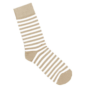 Cream and white striped socks | Shop online | LAFITTE Australia