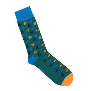 Hashtag Socks - Green | Shop Online | LAFITTE Australia