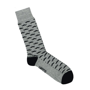 Moustache Socks - Grey | Shop Online | LAFITTE Australia