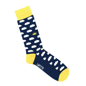 Navy Blue Socks with White Clouds | Shop Online LAFITTE Australia