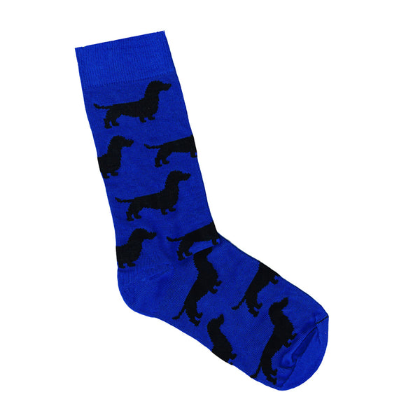 Dachshund Socks in Royal Blue | Shop Online LAFITTE Australia