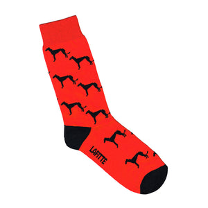 Charity Socks - Red with greyhounds | Shop Online | LAFITTE Australia
