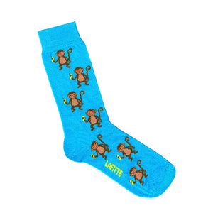 Monkey Socks - Blue | Shop Online | LAFITTE Australia