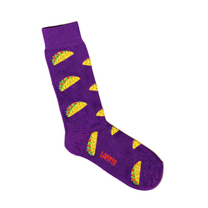 Purple Taco Print Socks | Patterned Socks with Tacos | LAFITTE Australia